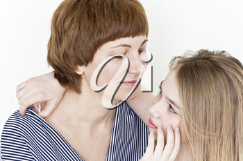 Close portrait of beautiful happiest mother and daughter