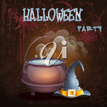 Royalty Free Clipart Image of a Halloween Party Invitation