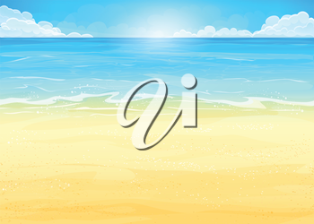 Royalty Free Clipart Image of a Beach Landscape