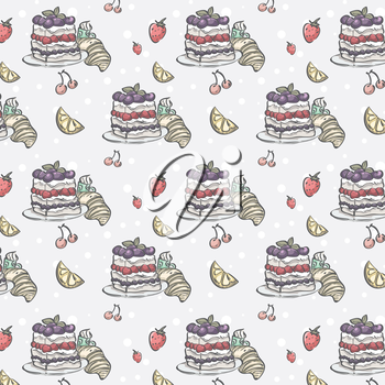 Royalty Free Clipart Image of a Dessert Background