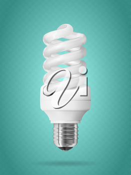 Energy saving light bulb. Realistic vector illustration.
