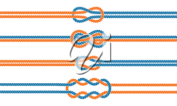 Royalty Free Clipart Image of Knots