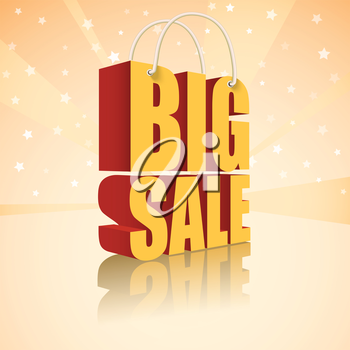 Big sale text, vector illustration for your business and design