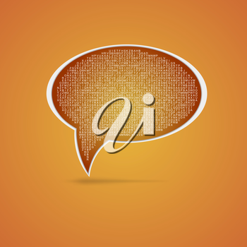 Speech bubble icon with letters, vector illustration. Eps 10