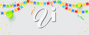 Banner with streamers, confetti and garlands of multi colored hanging flags. Vector checkered background for birthday, carnival, celebration, anniversary and holiday party. Explode of confetti