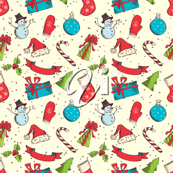 Hand-drawn elements in sketch style for your Chrstmas design.