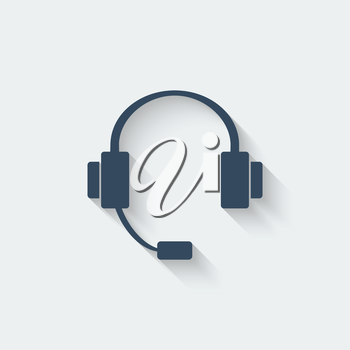 headphone design element - vector illustration. eps 10