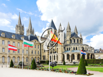 medieval Abbey of Saint-Etienne (Abbaye aux Hommes) in Caen city, France
