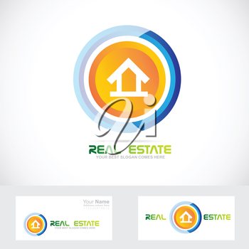 Vector company logo icon element template real estate house residential