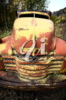Discarded truck at Telegraph Creek in Northern British Columbia