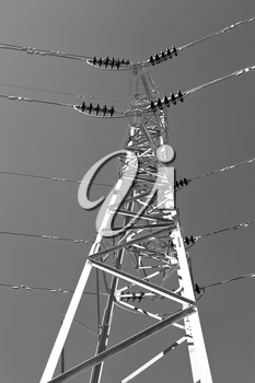 in iran electrical pylon in the clear sky energy and generation danger structure