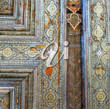 blur in iran abstract texture of the  religion  architecture mosque roof persian history