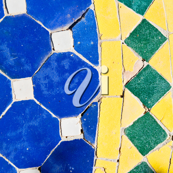 line in morocco africa old tile and colorated floor ceramic abstract