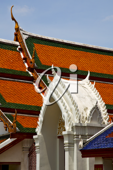 asia  bangkok in   temple  thailand abstract   cross colors roof    wat        and    colors religion mosaic  sunny