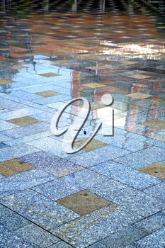 in   asia  bangkok thailand abstract pavement cross stone step in the  temple