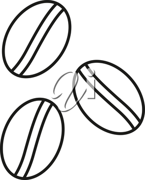 Simple thin line coffee seed icon vector