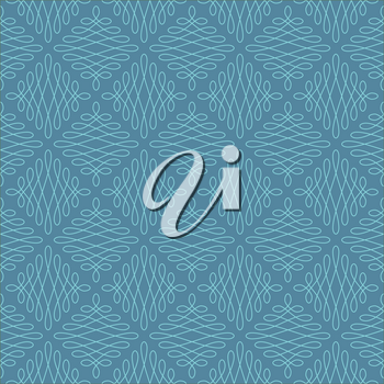 Neutral Seamless Linear Pattern. Tileable Geometric Outline Ornate. Vintage Flourish Vector Background. Iisland Paradise and Niagara colors.