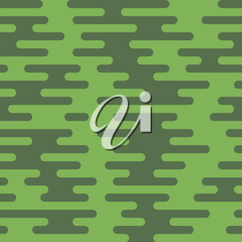 Ripple Irregular Rounded Lines Seamless Pattern. Greenery tileable vector background in flat style.