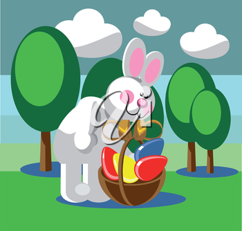 Royalty Free Clipart Image of the Easter Bunny