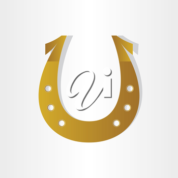 horseshoe luck symbol design abstract stylized icon