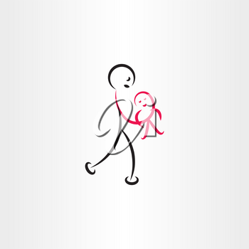 father holding baby vector illustration