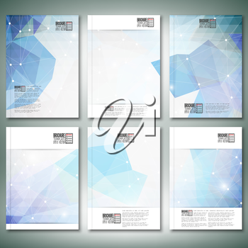 Abstract blue background. Brochure, flyer or report for business, templates vector.