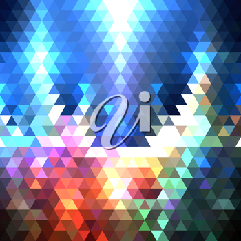 Colorful geometric background, abstract triangle pattern vector.