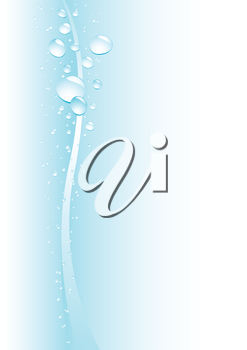 Simple drops blue background for design