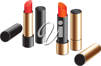 Female exclusive lipstick isolated on a white background