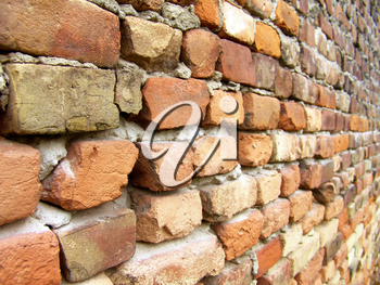 The old red brick macro wall