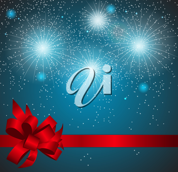 Christmas Snowflakes on Background Vector Illustration. EPS10