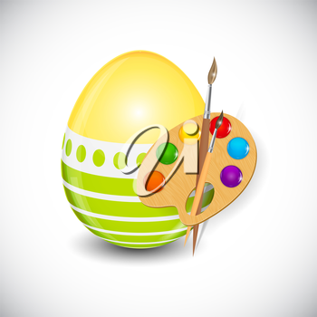 Beautiful Easter Egg Background Vector Illustration EPS10
