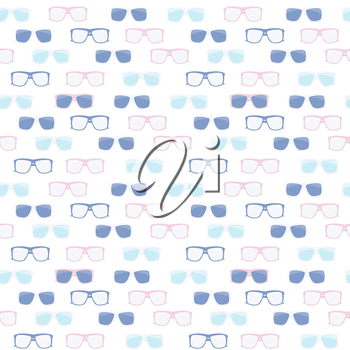 Glasses and Sunglasses Seamless Pattern Vector Illustration EPS10