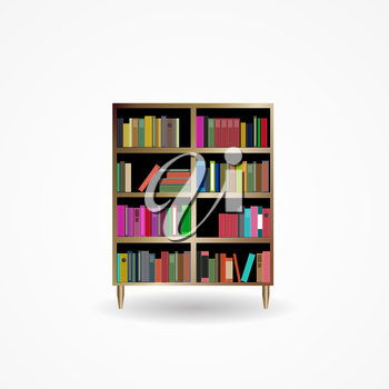 Bookcase with Books Icon Vector Illustration EPS10