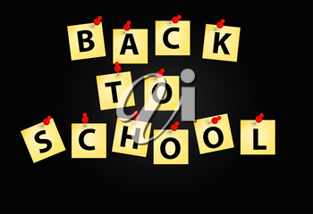 Back to School Background. Vector Illustration. EPS10