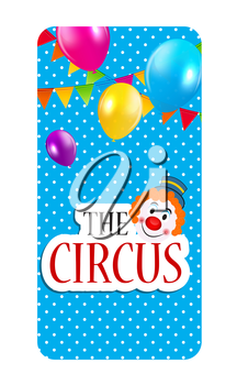 The Circus Banner Isolated Vector Illustration EPS10