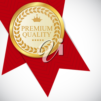 Gold Premium Quality Label Vector Illustration EPS10