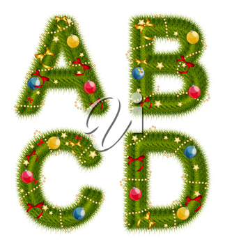 Abstract beauty Christmas and New Year Abc. Vector  Illustration EPS10