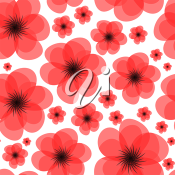 Floral Seamless Pattern Background Vector Illustration EPS10