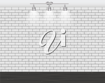Brick Wall for Your Text and Images, Vector Illustration.