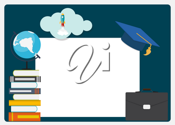 Class of 2019  Graduarion Design Elements Empty Frame with Education Background. Vector Illustration EPS10