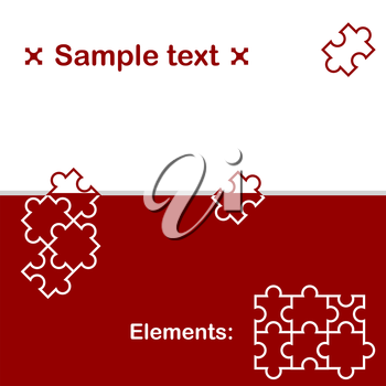 Background with puzzle elements, 2d illustration, vector, eps 8