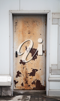 Old rusted locked door background texture