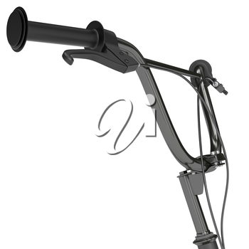 Chrome plating wheel scooter with brake handles on a white background