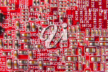 Computer motherboard circuit. Use for texture or background