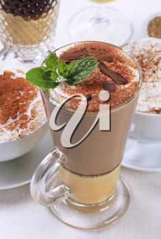 Eggnog latte and other coffee drinks