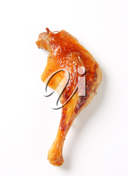 Roast duck leg with crispy skin