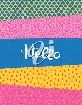 Creative colorful background with different textures. Doodle art. Suitable for print, greeting card, banner, poster, cover