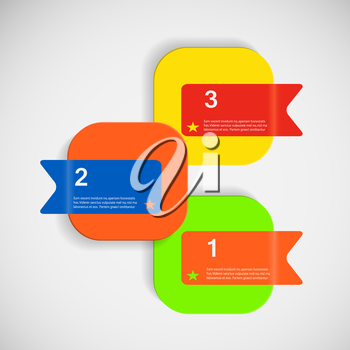 Vector abstract creative square color box eps.