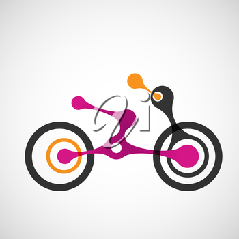 Vector abstract moto transport eps.
